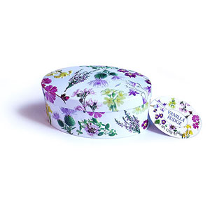 Scottish Wild Flowers Oval Fudge Tin