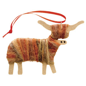 Cameron - Hairy Highland Cow Ornament