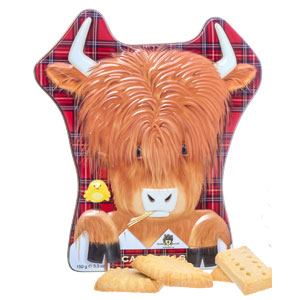 Highland Cow Shortbread Tin from Campbells