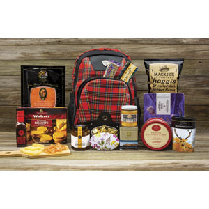 Royal Rucksack - Filled with fifteen Scottish gourmet foods.