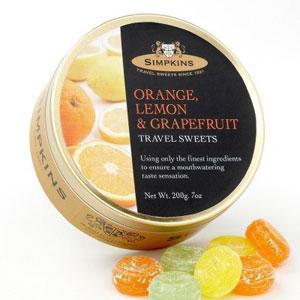 Lemon, Orange and Grapefruit Travel Sweets from Simpkins