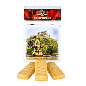 Edinburgh Castle Square Shortbread Tin from Campbell's.