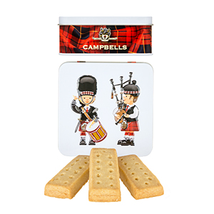 Piper and Drummer Square Shortbread Tin from Campbell's.