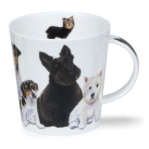 Scottie Dogs & Puppies Dunoon Bone China Mug