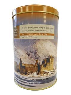 Scottish Winter Tea Drum - with orange & spices - 50 teabags