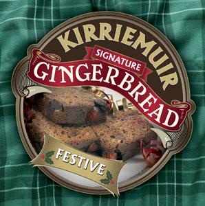 Kirriemuir Festive Gingerbread with Cherries and Candied Citrus Peel