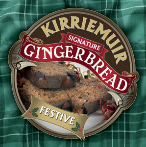 Kirriemuir Festive Gingerbread with Cherries and Candied Citrus Peel
