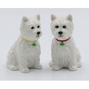 Westie Salt & Pepper Shakers
