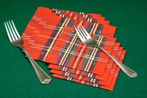 Classic Plaid Cocktail Napkins