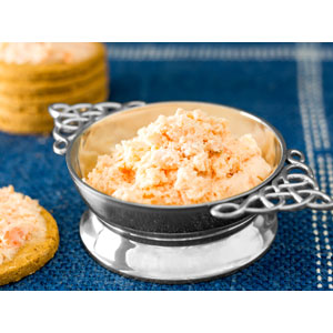 Bradan is Gruth- Crowdie and Peat Smoked Salmon Spread with Black Pepper