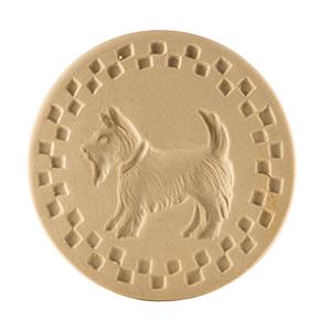 """Scottie Cookie Stamp 3"""" Round"""