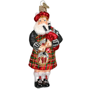 Highland Santa Ornament 5