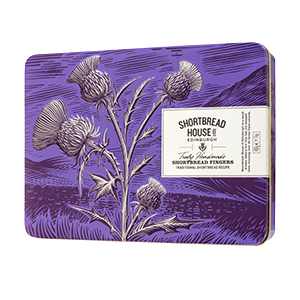 Shortbread Fingers in Purple Thistle Gift Tin