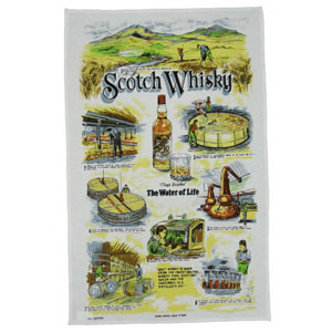 Scotch Whisky Teatowel