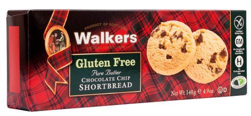 Gluten Free Chocolate Chip Shortbread Rounds