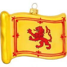 Lion Rampant Glass Flag Ornament