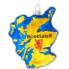 Scotland Map Glass Ornament