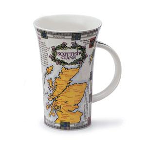 Scottish Clan Map Oversized Mug