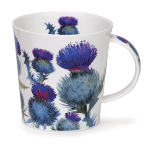 Scottish Thistles Bone China Mug